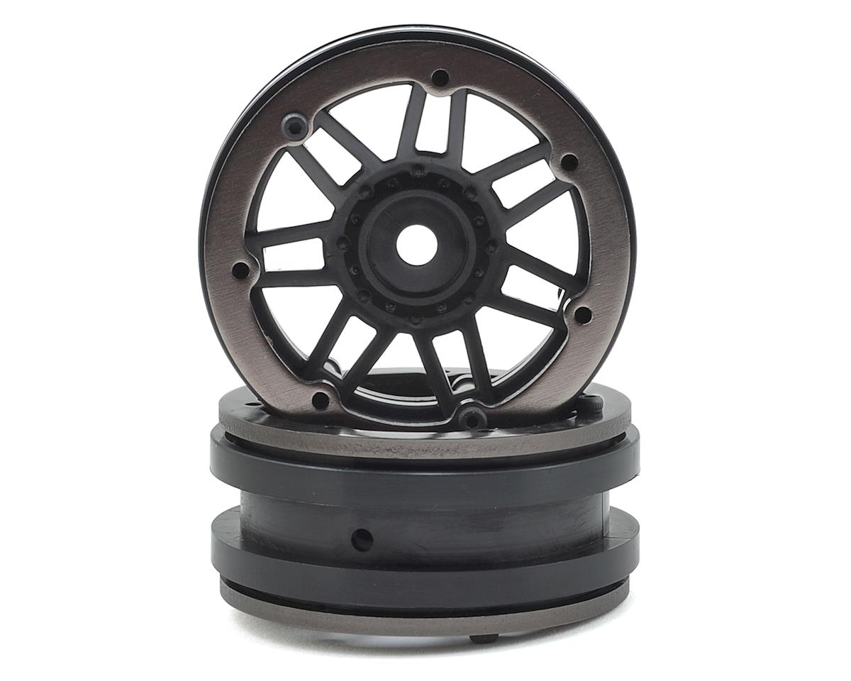 Pit Bull Tires Raceline #931 Injector 1.9 Beadlock Wheel (Black/Gun Metal) (2)