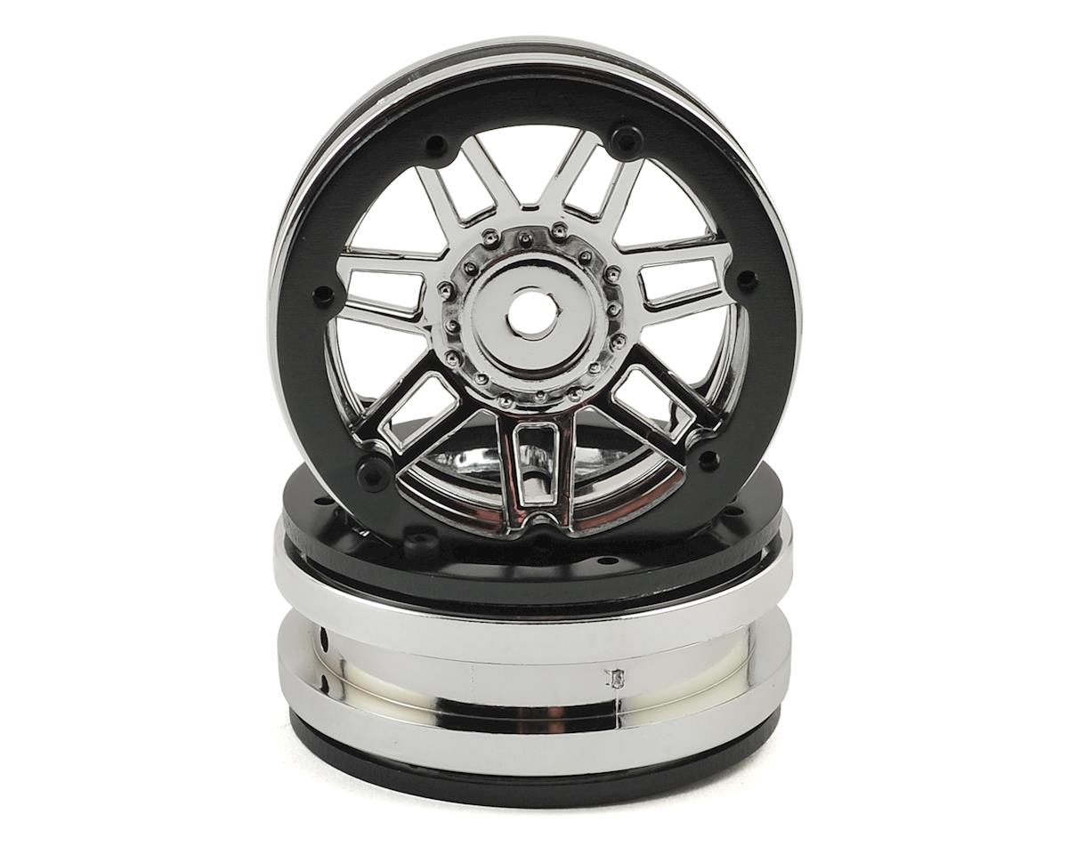 Raceline #931 Injector 1.9 Beadlock Wheel (Chrome/Black) (2) by Pit Bull Tires