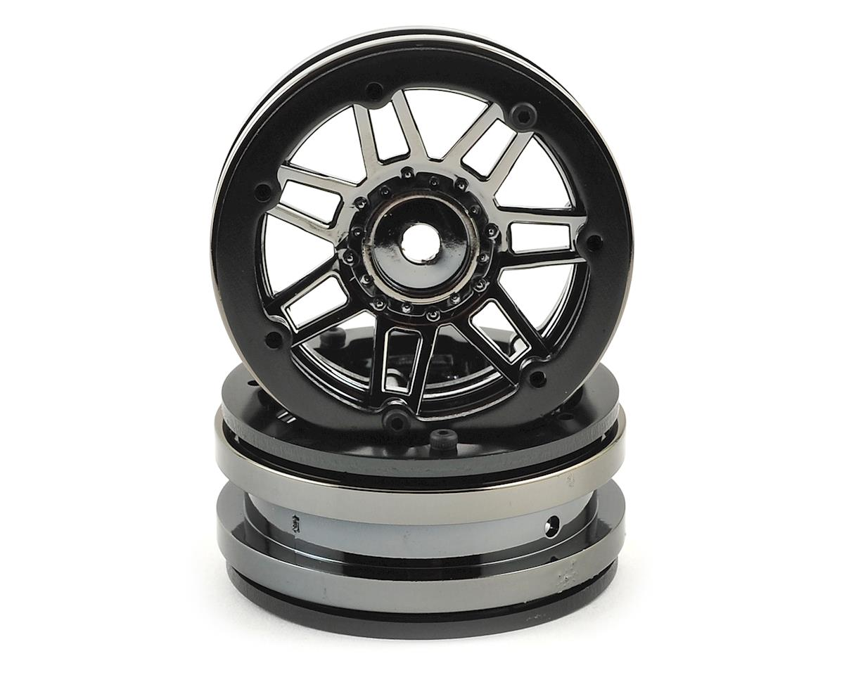 Pit Bull Tires Raceline #931 Injector 1.9 Beadlock Wheel (Gun Metal/Black) (2)