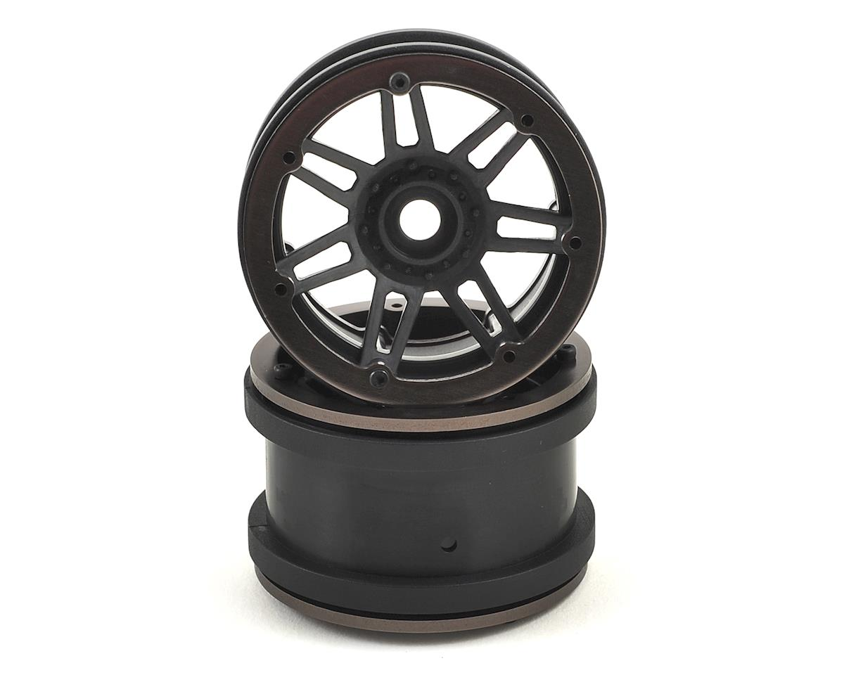 Raceline #931 Injector 2.2 Beadlock Wheel (Black/Gun Metal) (2) by Pit Bull Tires