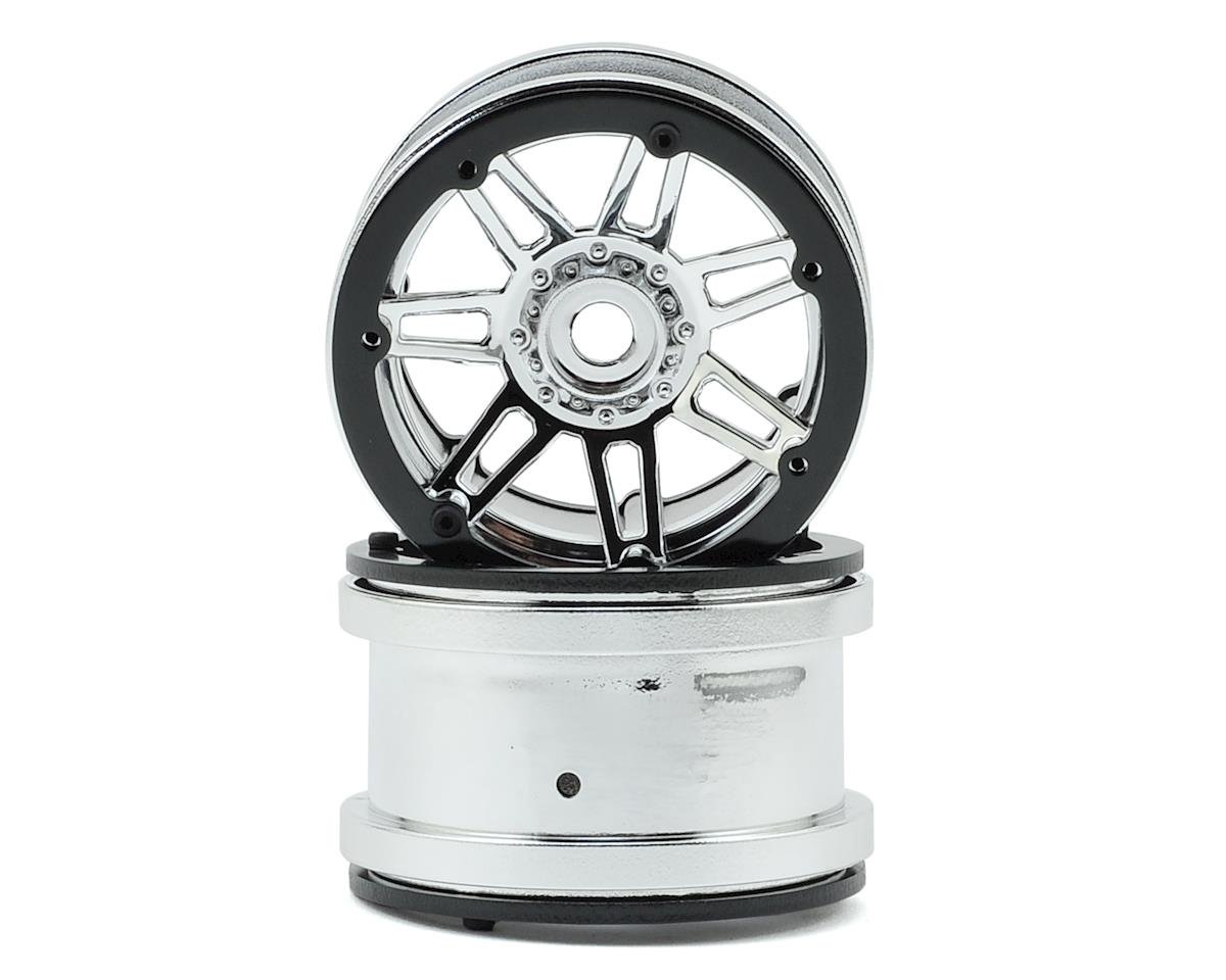 Raceline #931 Injector 2.2 Beadlock Wheel (Chrome/Black) (2) by Pit Bull Tires