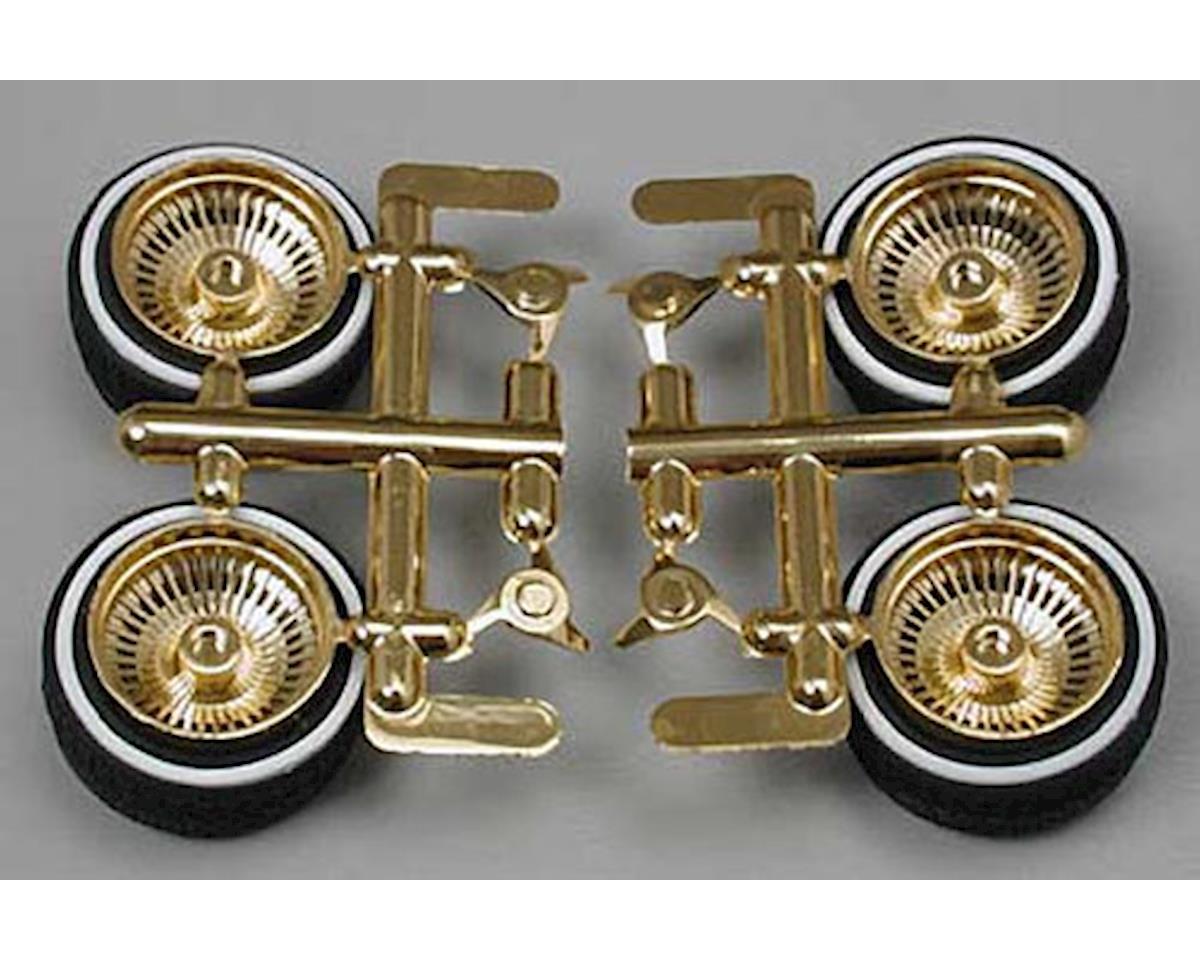 Pegasus Hobbies 1/24 Rims & Tires Gold (4)