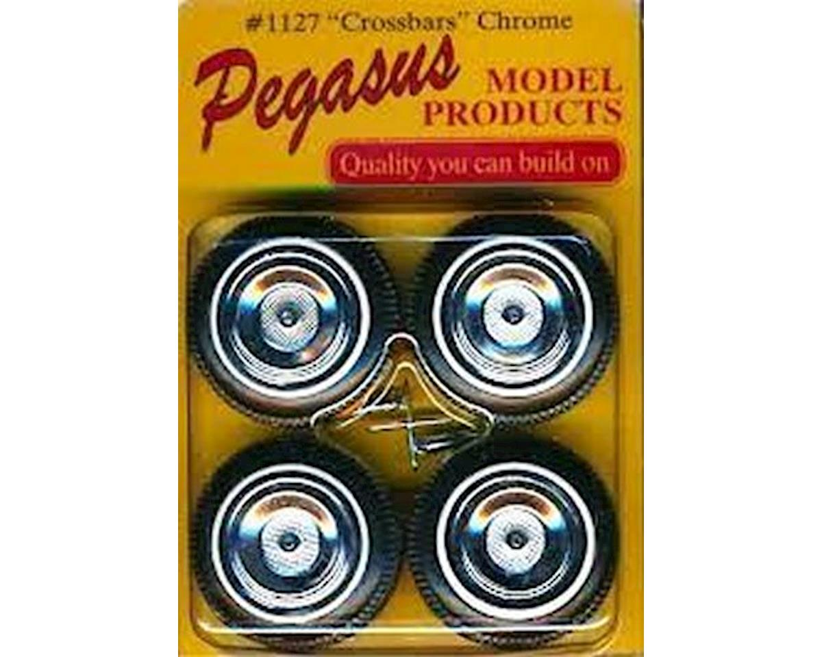 Pegasus Hobbies 1127 1/24-1/25 Crossbars Rims/Tires (4)