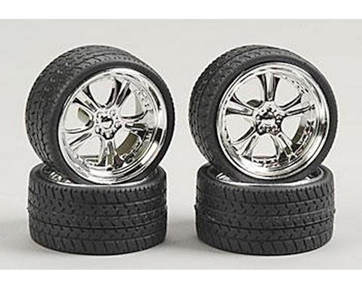 1/25 Phat Daddies w/Tires 23 Chrome (4)