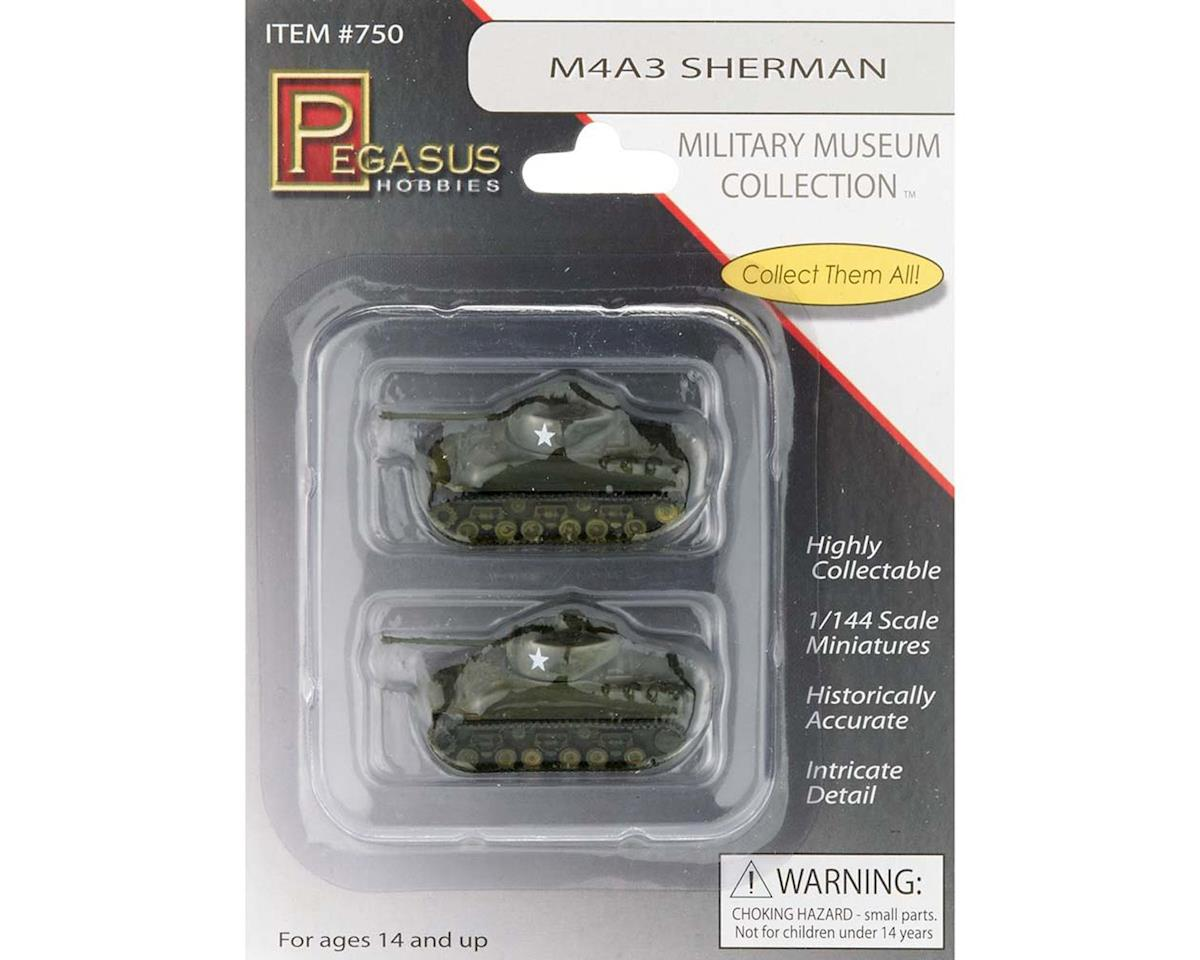 750 1/144 M4A3 Sherman Tanks Pre-Built (2) by Pegasus Hobbies