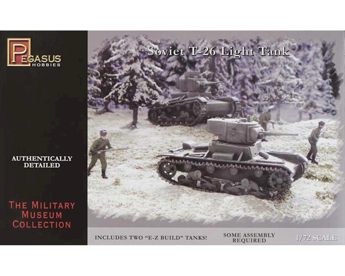 7671 1/72 Soviet T-26 Tanks by Pegasus Hobbies
