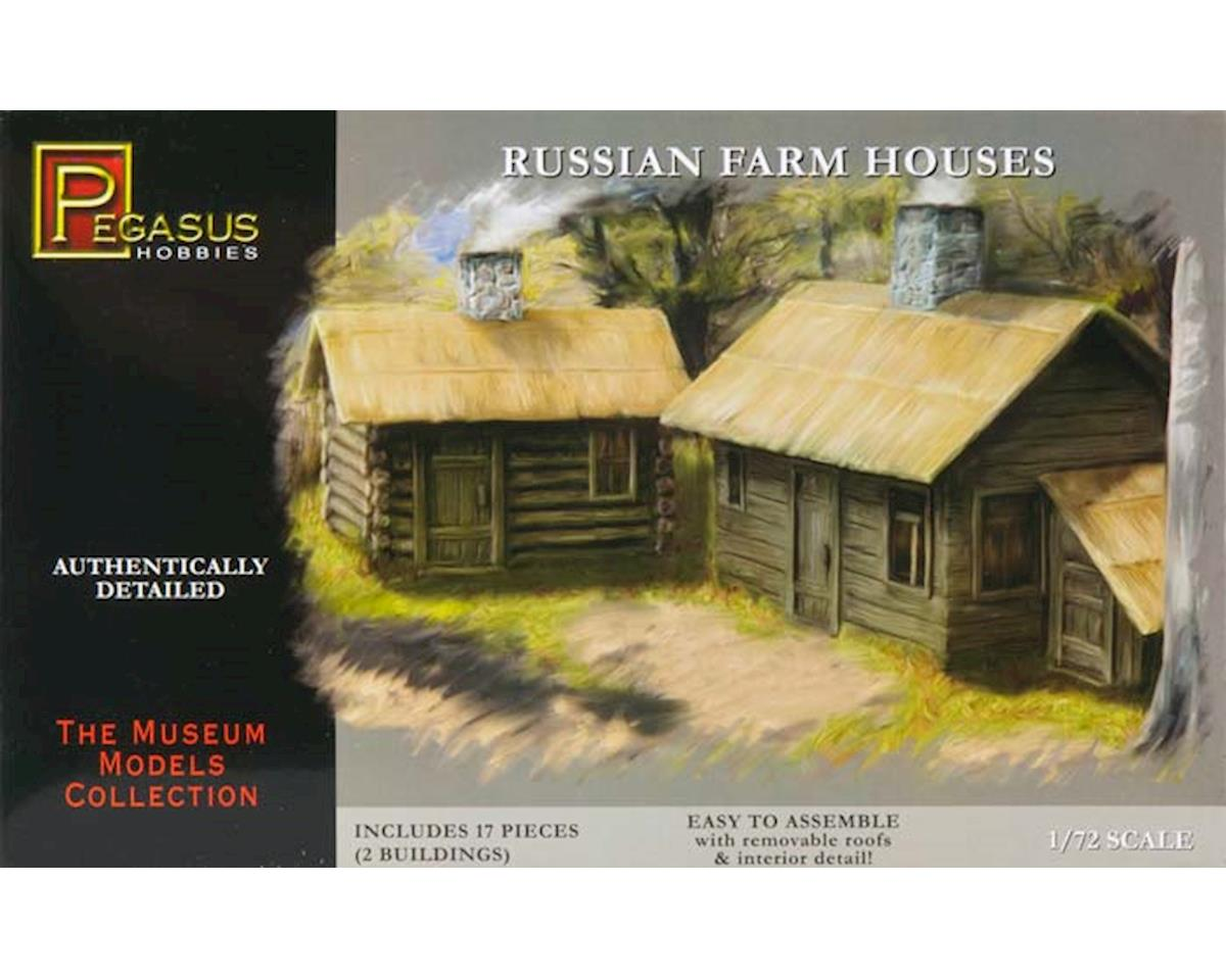 7702 1/72 Russian Farm Houses (2) by Pegasus Hobbies