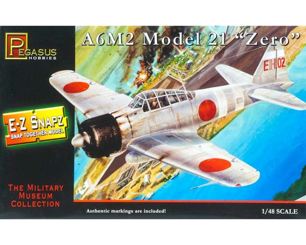 1/48 A6m2 Zero E-Z Snap by Pegasus Hobbies