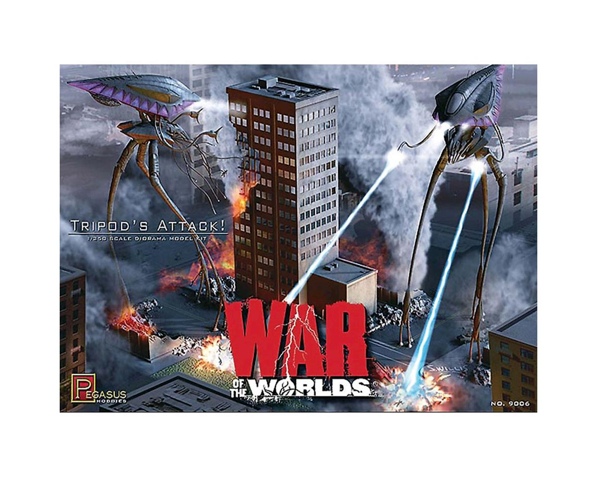 Pegasus Hobbies 9006 1/350 Tripods Attack! 2005 War of Worlds Diorama