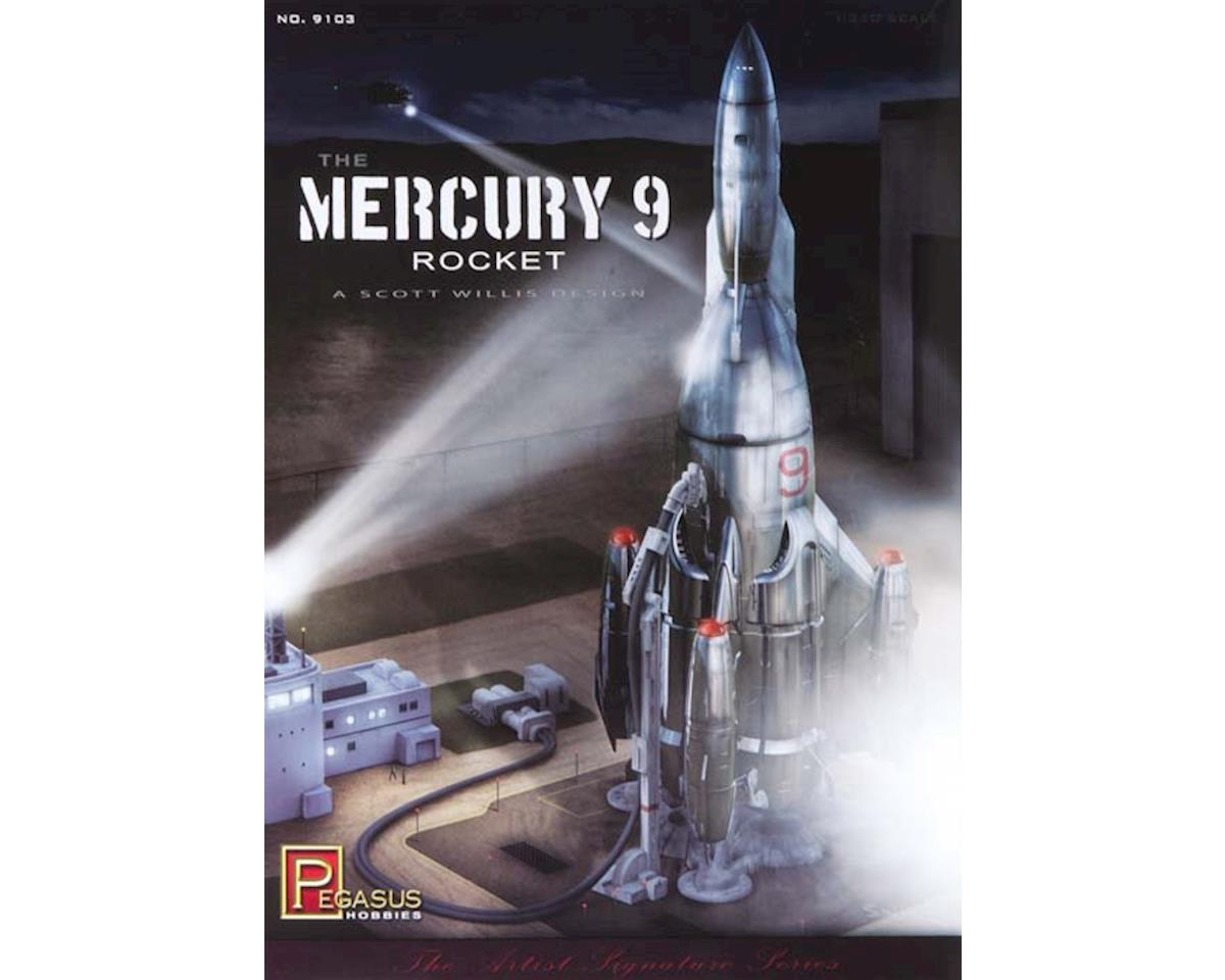 Pegasus Hobbies 9103 1/350 Mercury 9 Rocket