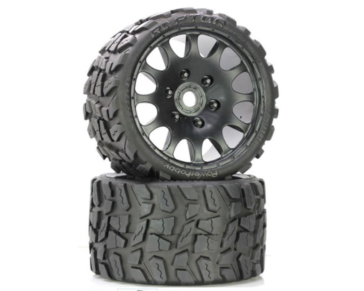 Power Hobby Raptor Belted Monster Truck Wheel / Tires (pr.) Race Soft