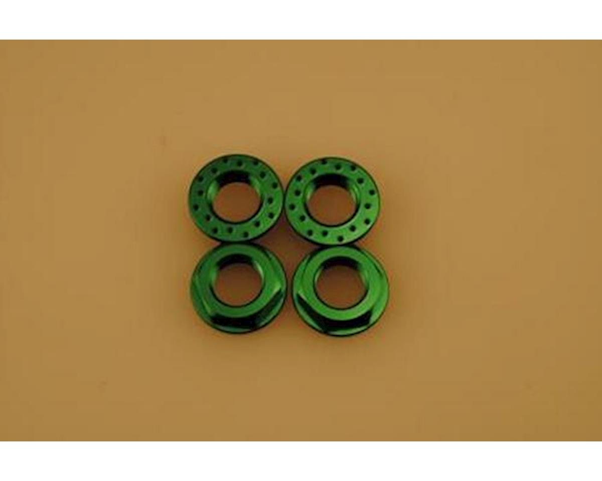 17Mm Green Flanged Locking Wheel Nut by Patriot Hobbies Unlimited