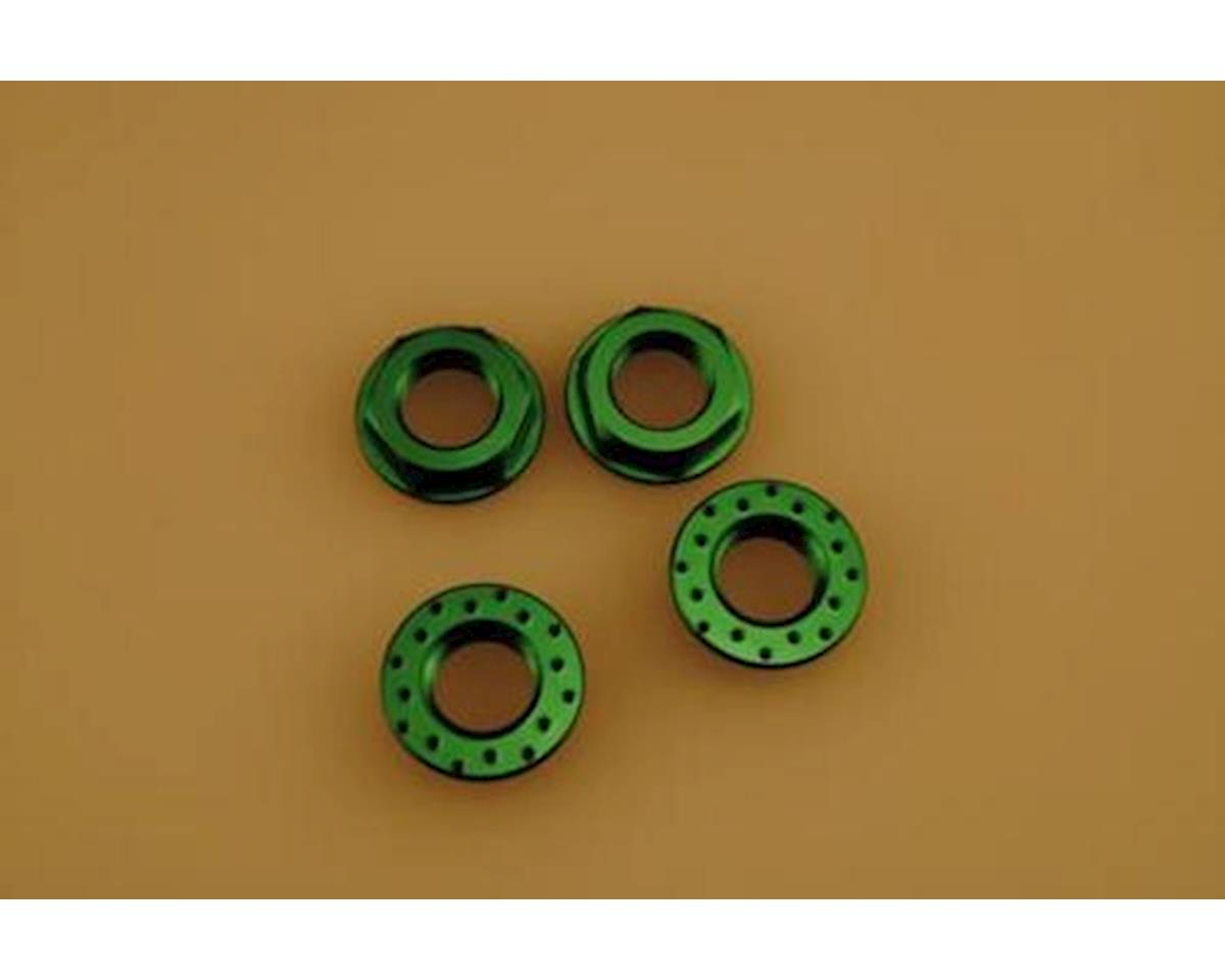 Patriot Hobbies Unlimited Patriot 3770 Jammin 17mm Green Flanged Locking Wheel Nuts