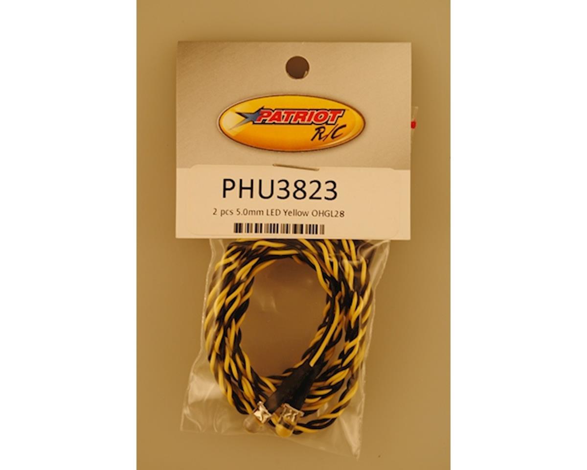 Patriot Hobbies Unlimited 5.0mm LED Yellow OHGL28 2 PCS