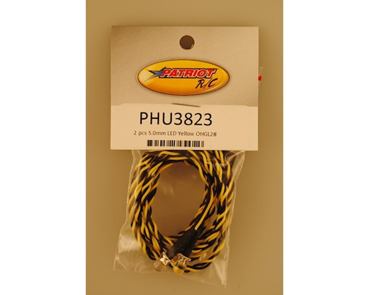 5.0mm LED Yellow OHGL28 2 PCS by Patriot Hobbies Unlimited