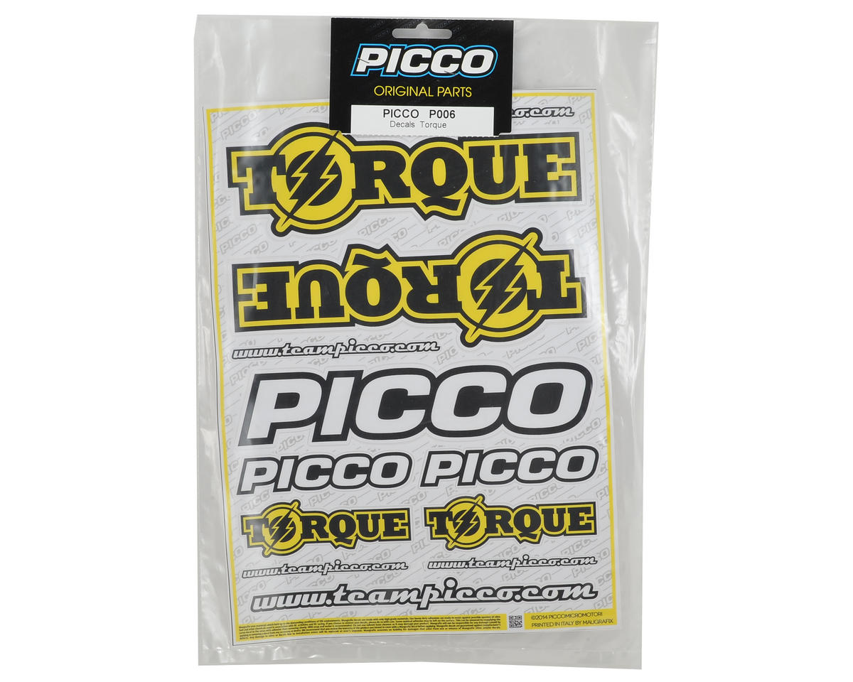 Picco Torque Racing Decal Sheet