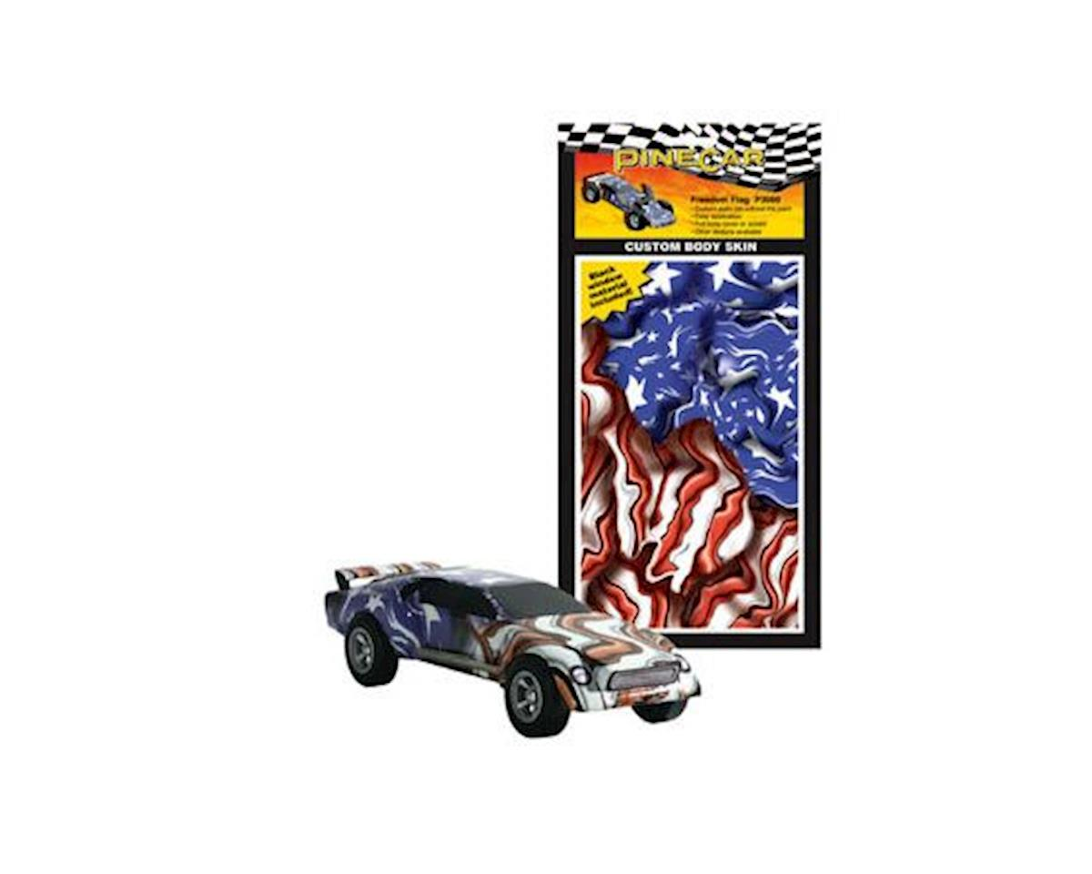 PineCar Freedom Flag Custom Body Skin