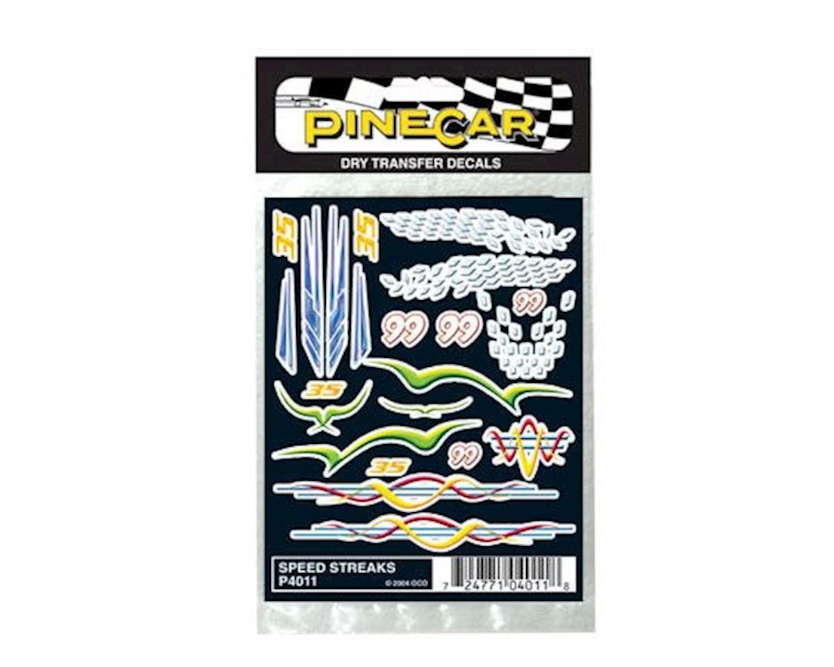 Speed Streaks Dry Transfer by PineCar