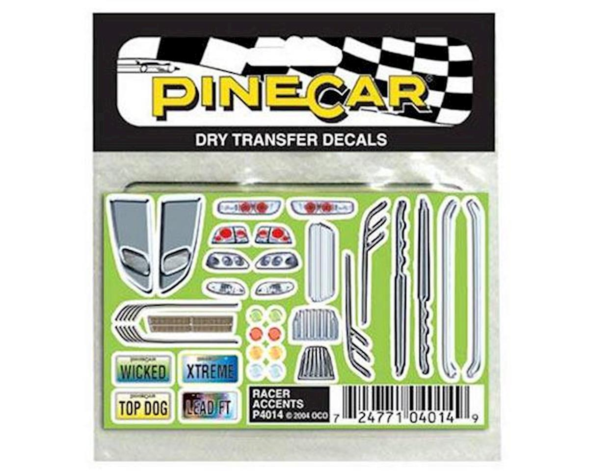 Pinecar Racer Accents Dry Transfer