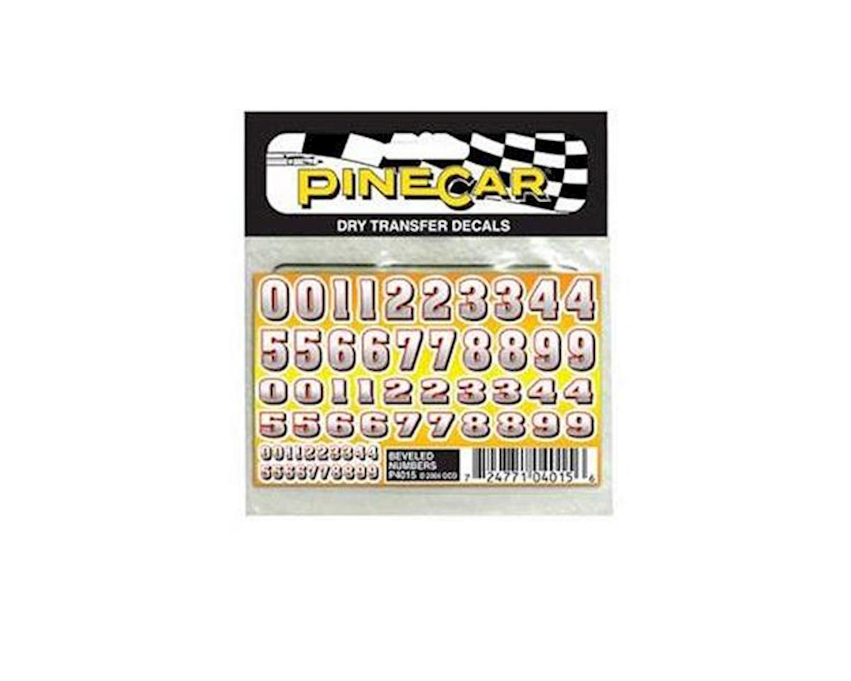 Beveled Numbers Dry Transfer by PineCar