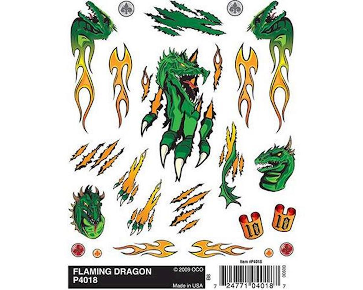 PineCar Dry Transfer Decals, Flaming Dragon