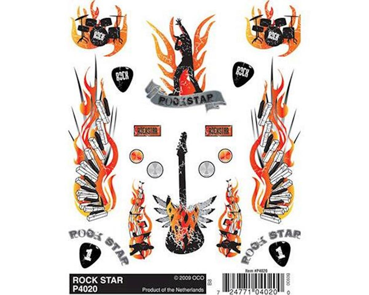 PineCar Dry Transfer Decals, Rock Star