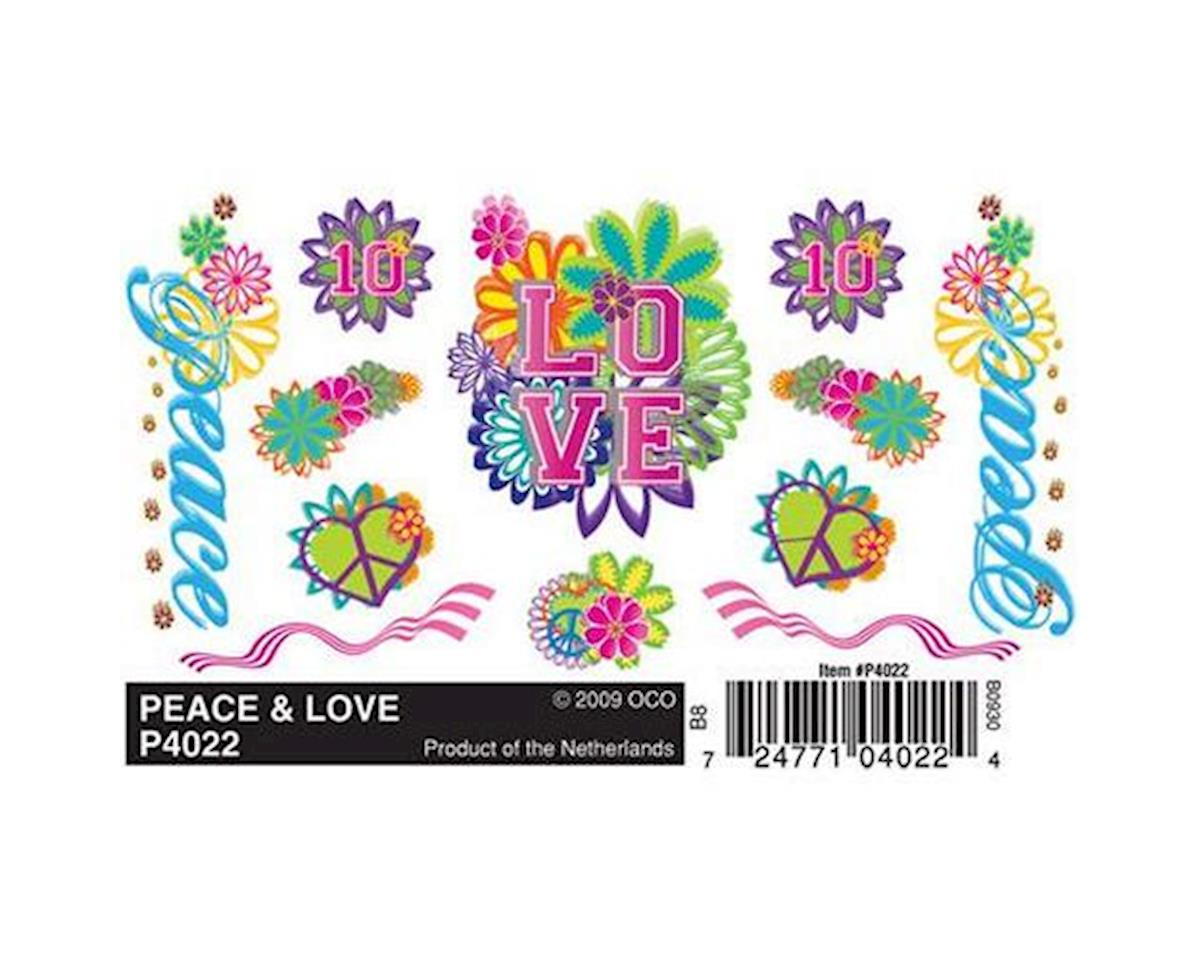 PineCar Dry Transfer Decals, Peace & Love