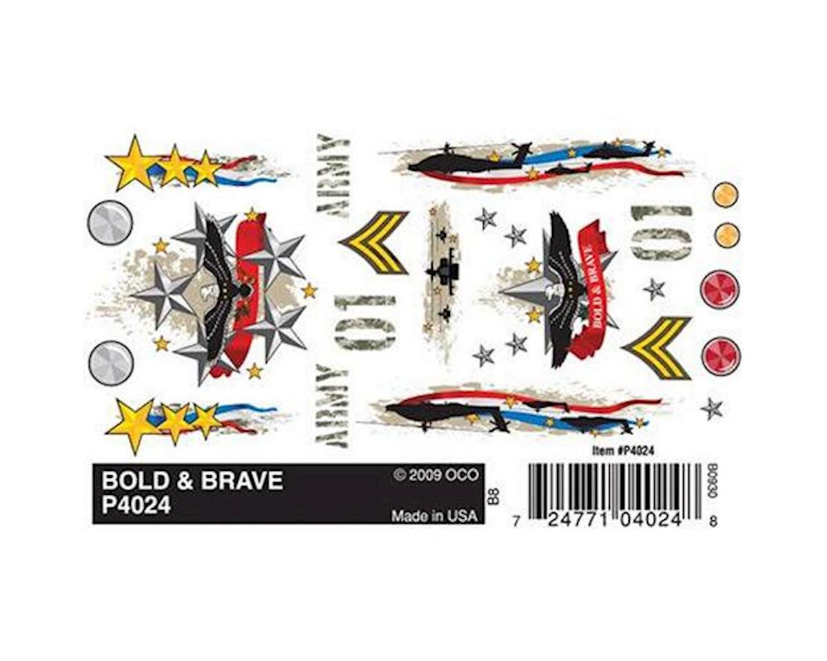PineCar Dry Transfer Decals, Bold & Brave