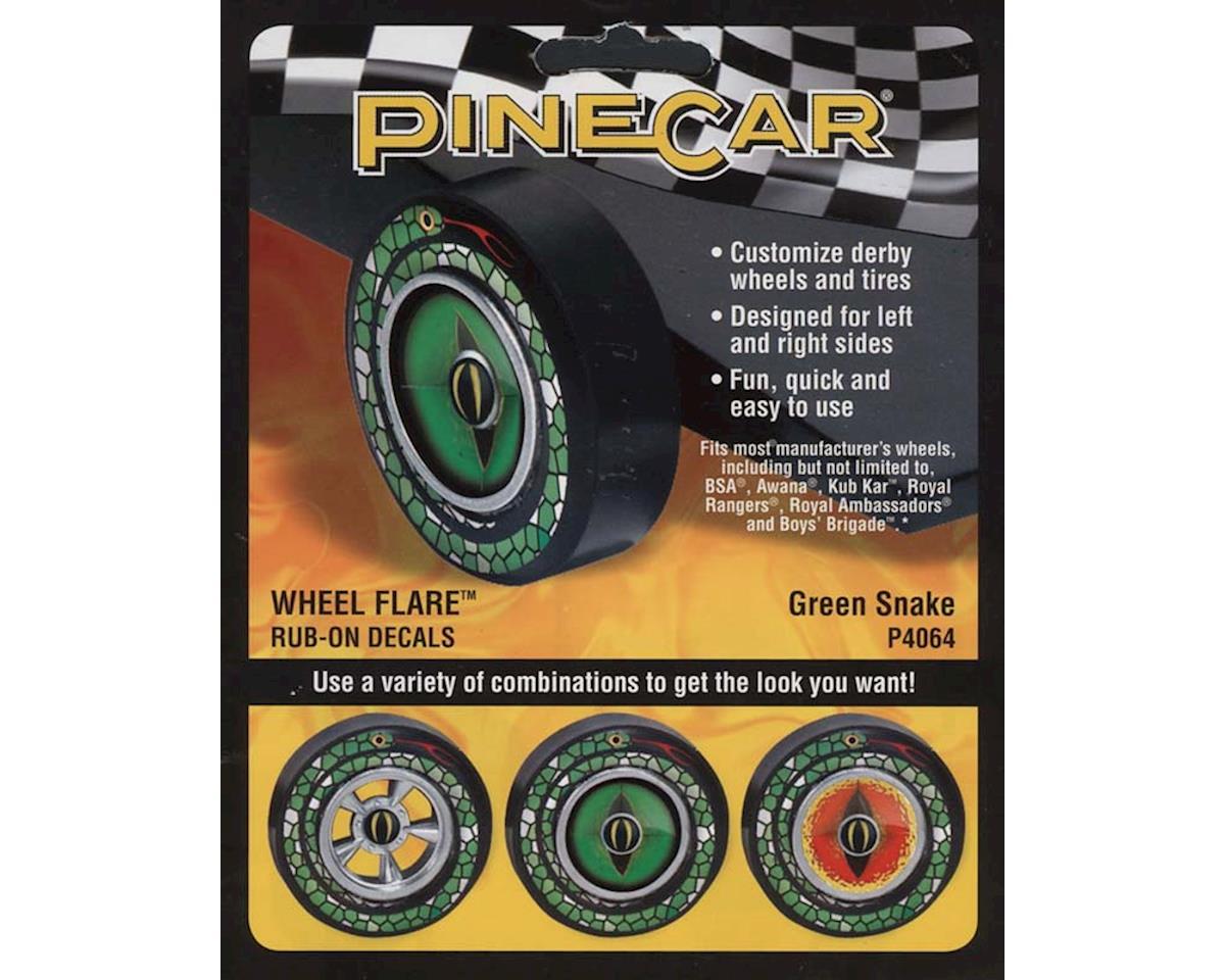 PineCar Wheel Flare, Green Snake