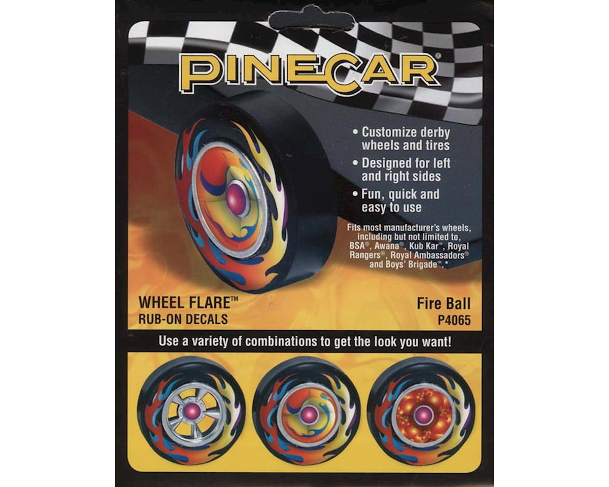 Wheel Flare, Fire Ball by PineCar