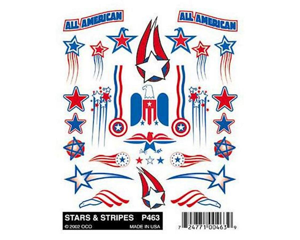 PineCar Stick-On Decal, Stars & Stripes