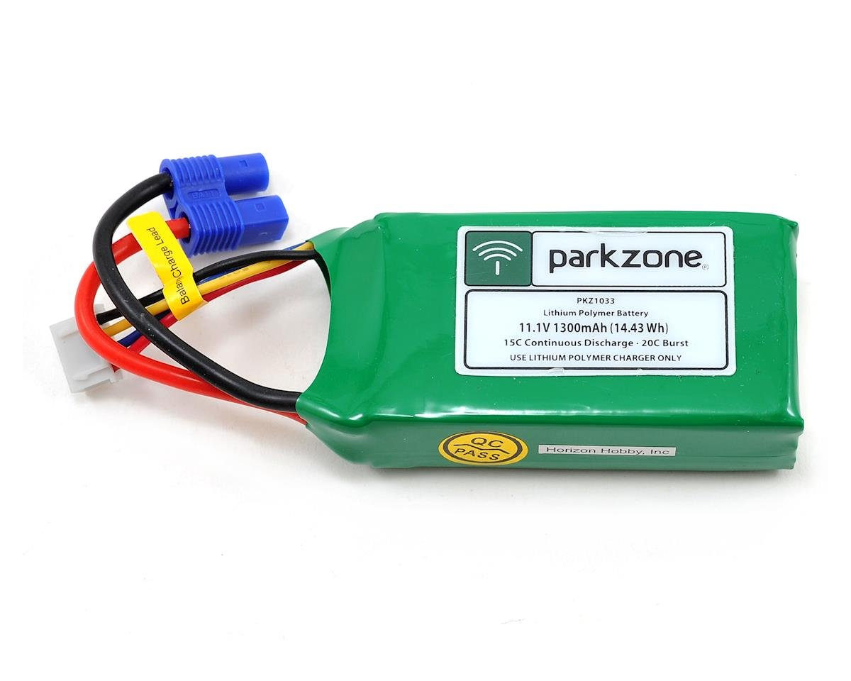 3S LiPo battery w/EC3 Connector (11.1V/1300mAh) by ParkZone