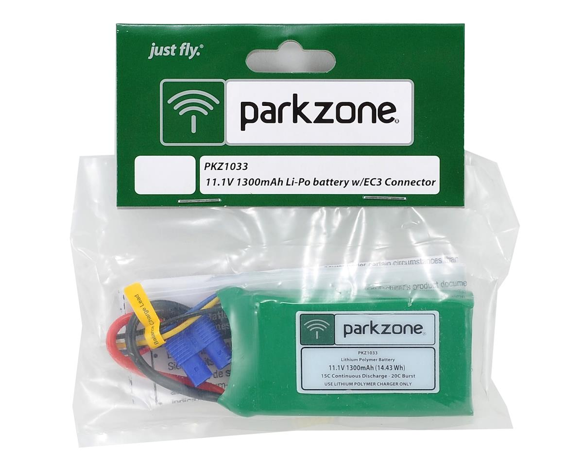ParkZone 3S LiPo battery w/EC3 Connector (11.1V/1300mAh)