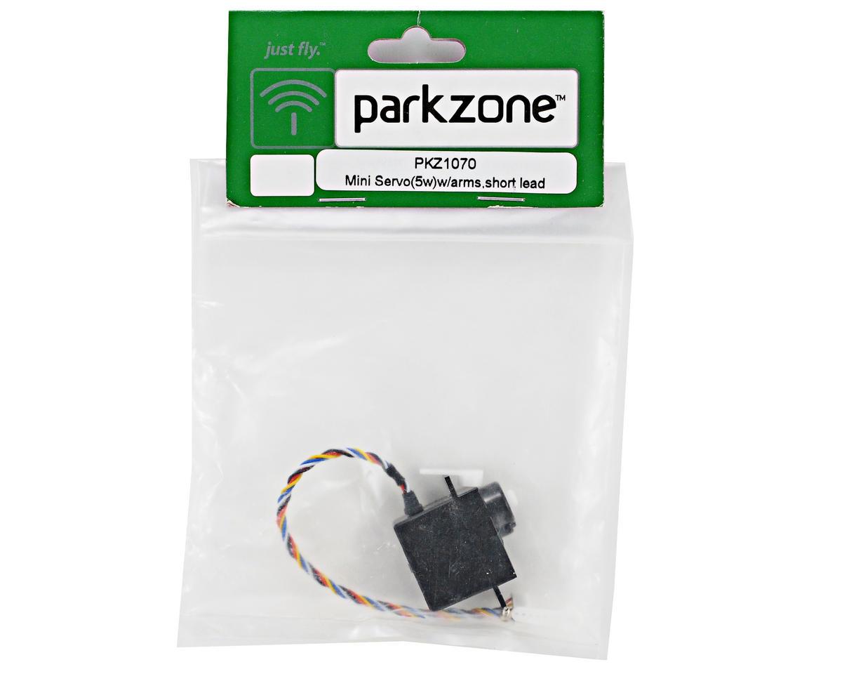 ParkZone Mini Servo (5W) w/Arms & Short Lead (Super Cub LP)