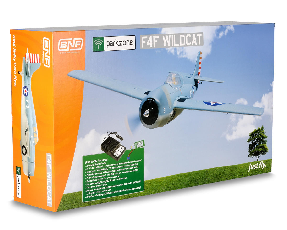 ParkZone F4F Wildcat Bind-N-Fly Electric Airplane