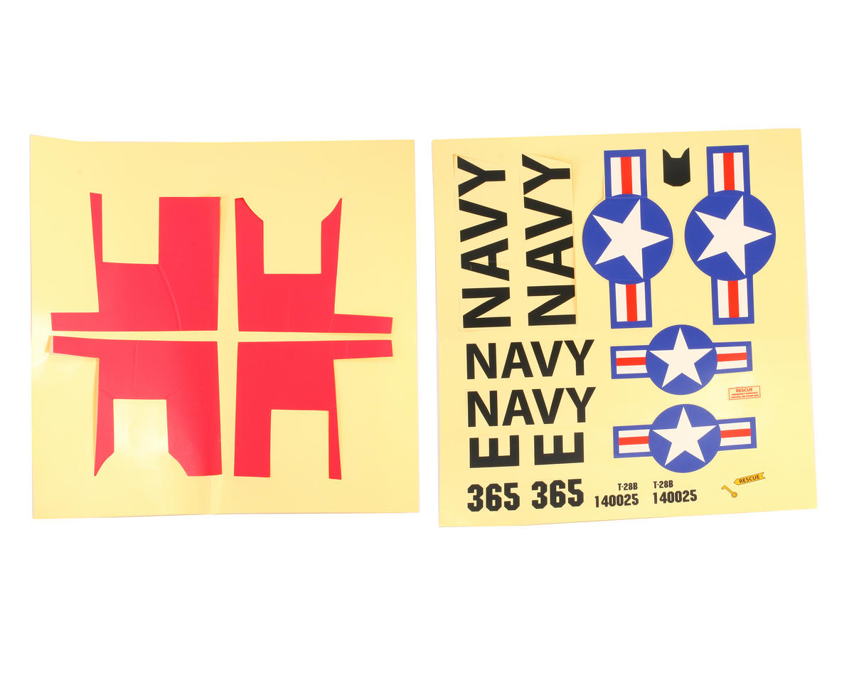 ParkZone T-28 Trojan Decal Sheet: