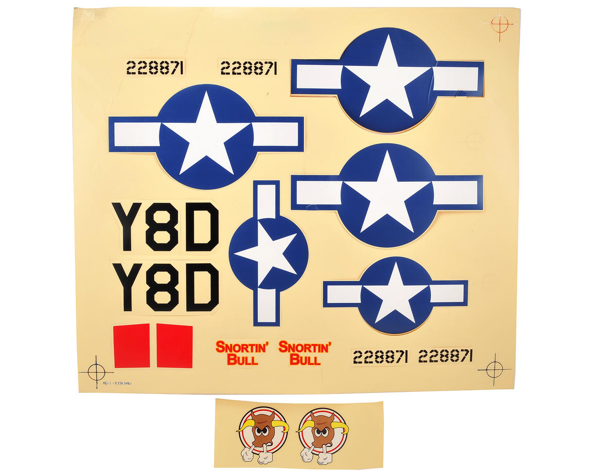 ParkZone P-47D Thunderbolt Decal Sheet