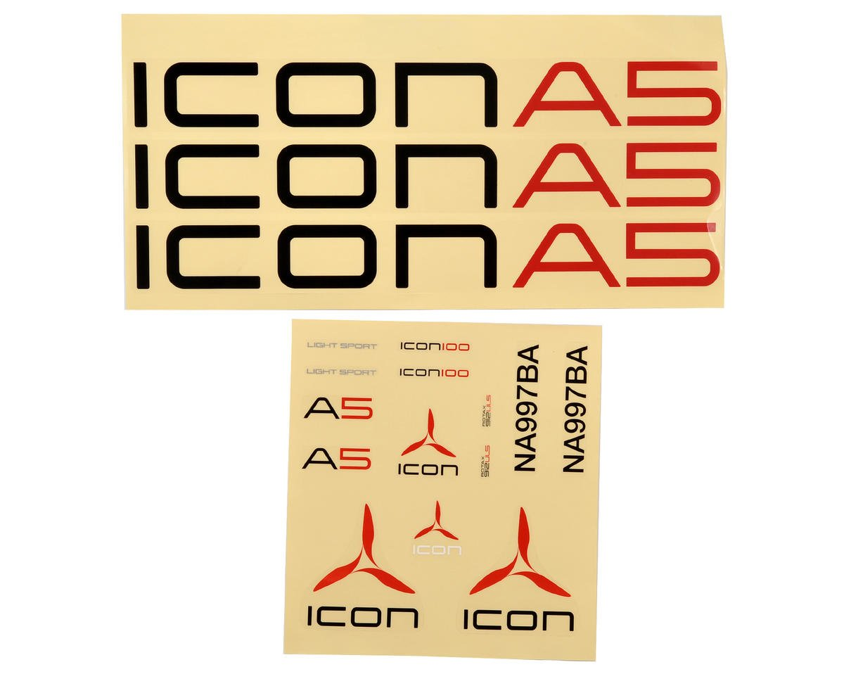 ParkZone Icon A5 Decal Sheet (Icon A5)