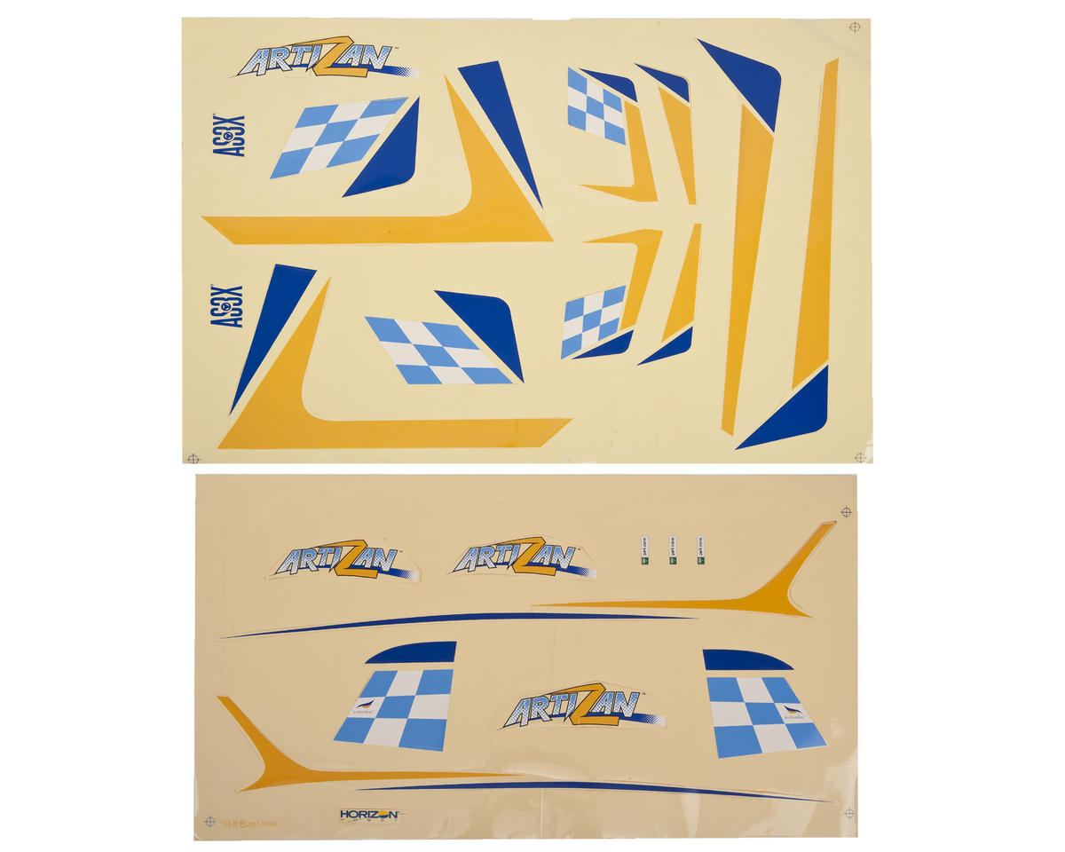 ArtiZan Decal Sheet by ParkZone