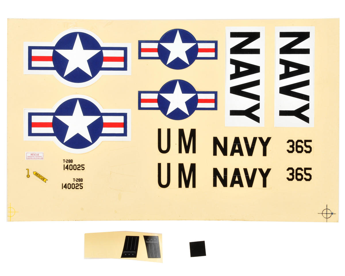 ParkZone Ultra-Micro T-28 Trojan Decal Sheet