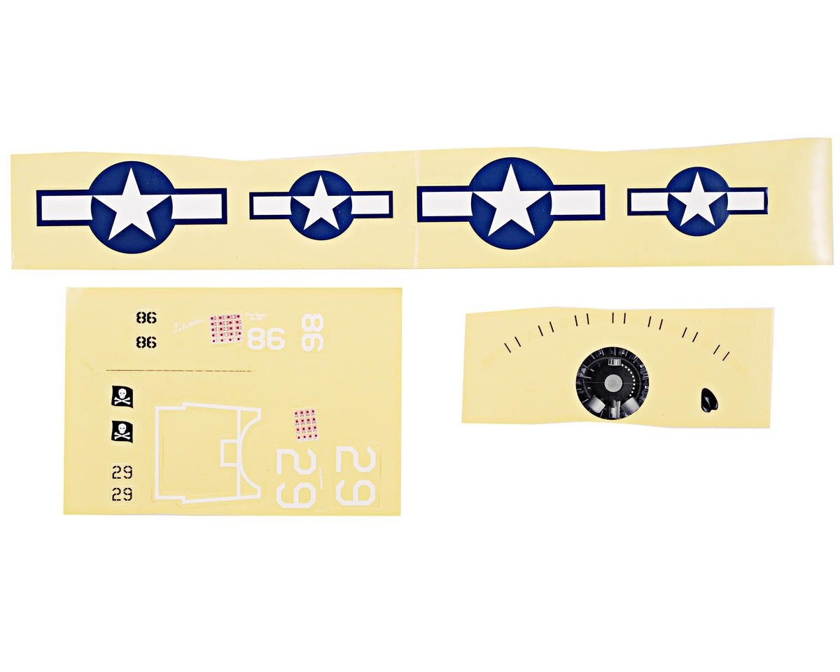 ParkZone Ultra Micro F4U Corsair Decal Sheet