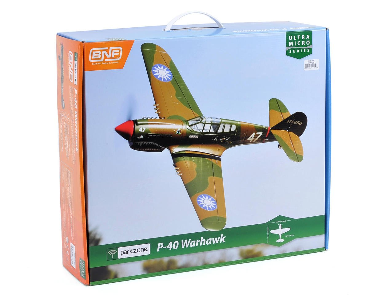 ParkZone Ultra-Micro P-40 Warhawk Bind-N-Fly Electric Airplane
