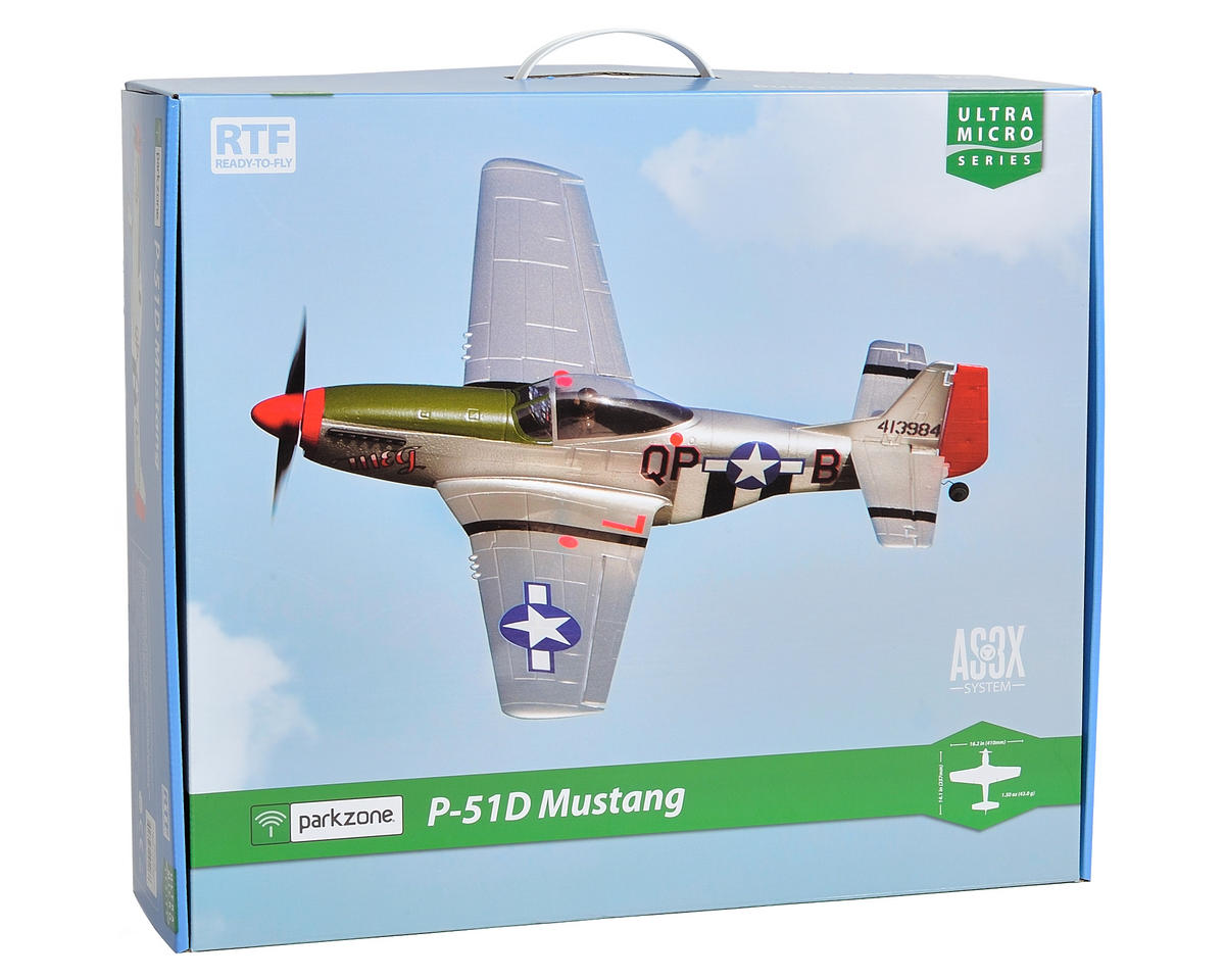 ParkZone Ultra-Micro P-51D Mustang RTF w/AS3X