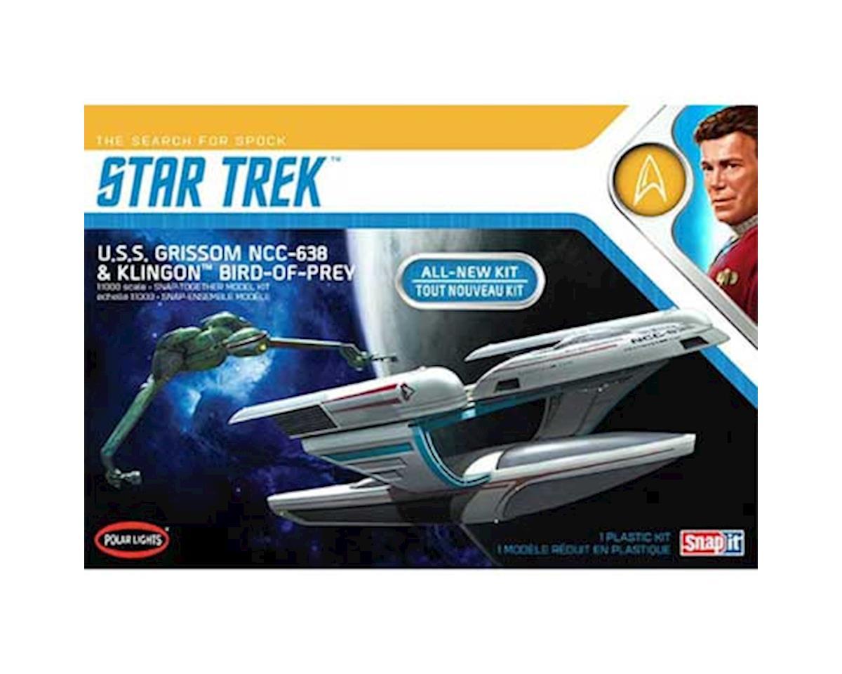 Round 2 Polar Lights 1/1000 Star Trek USS Grissom/Klingon BoP (2pk)