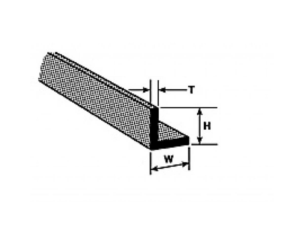 """Plastruct A-1 Angle,3/64"""" (10)"""
