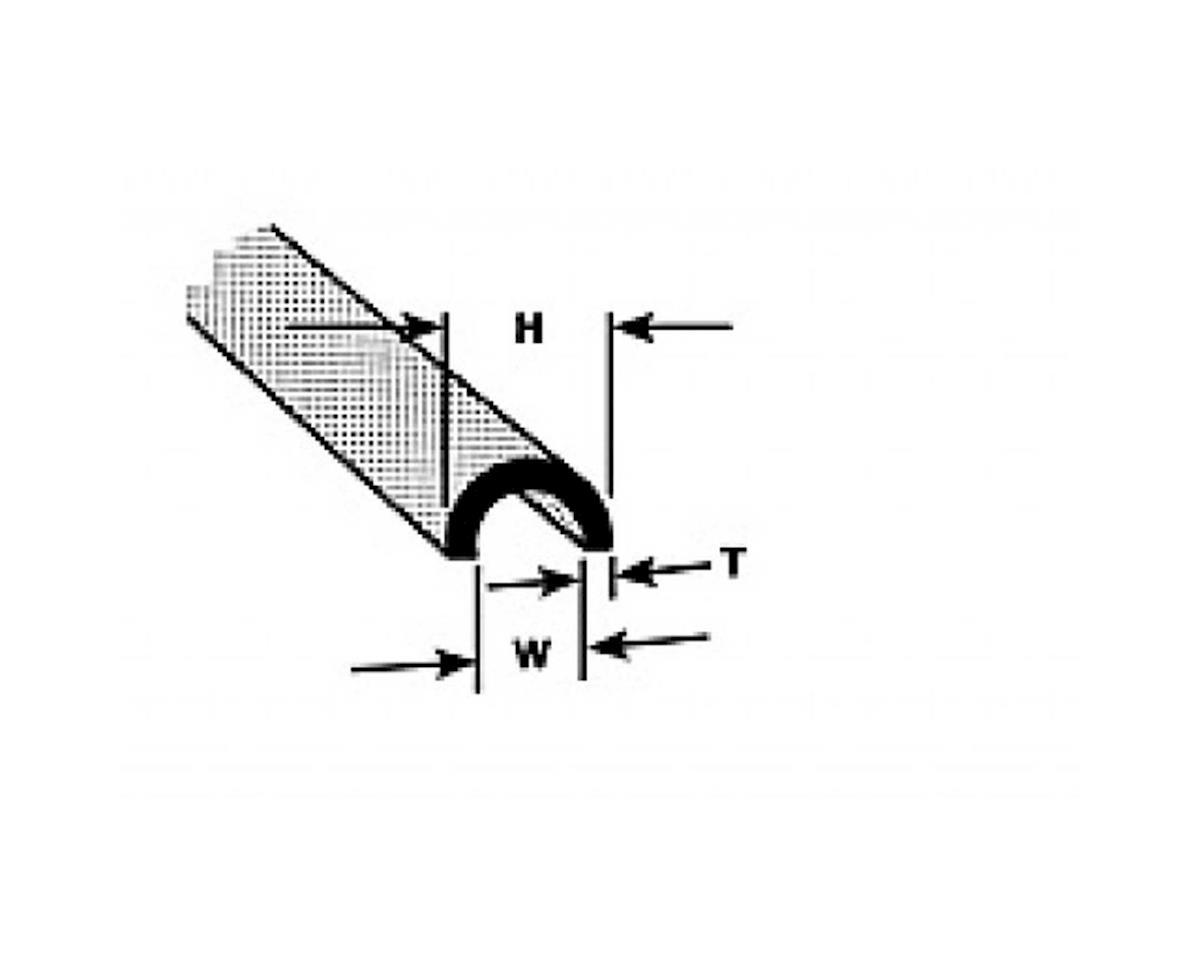 "Plastruct HP-8 Butyrate 3/8"" Half Round(3)"