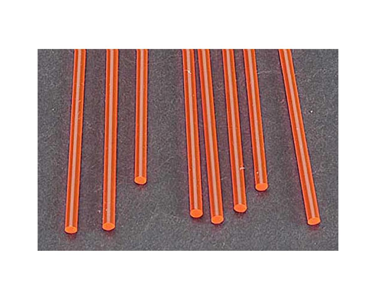 "Plastruct FARR-3H Fluor Red Rod,3/32"" (8)"