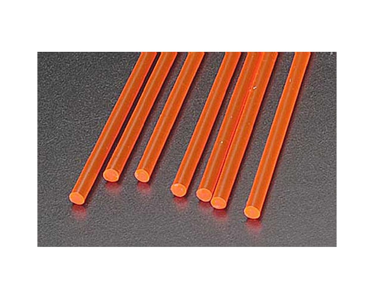 "Plastruct FARR-4H Fluor Red Rod,1/8"" (7)"