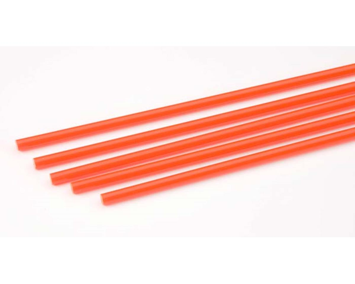 """90274 Rod Round Fluorescent Red 5/32"""" (5) by Plastruct"""