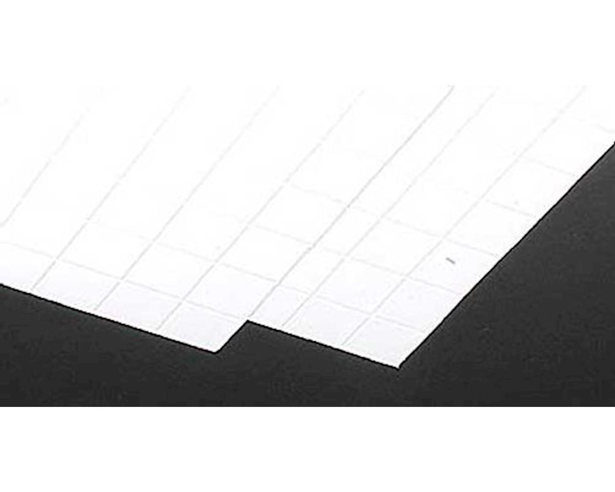 1 White Square Tile Plastic Pattern Sheet 2Pc by Plastruct